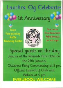 1st Anniversary Celebrations