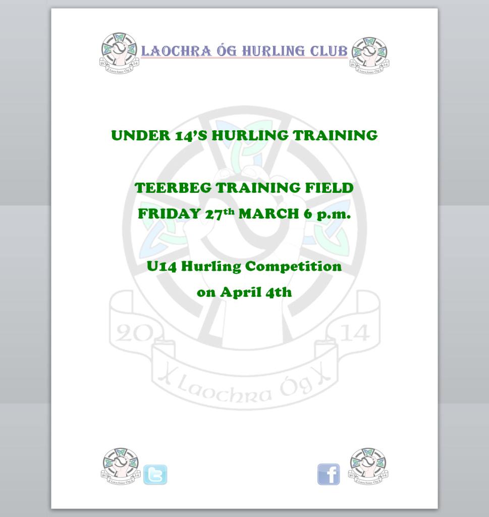U14 Training