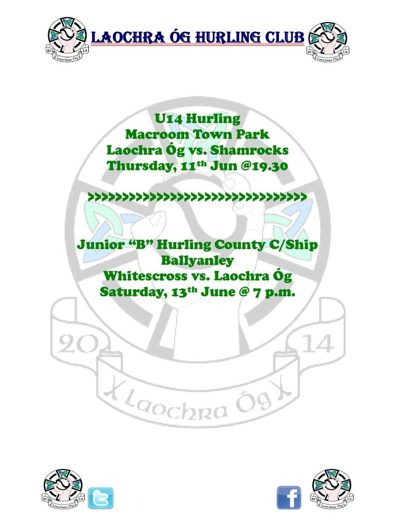 Fixture Notice 10-Jun-2015
